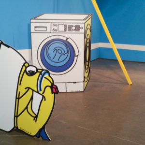 Washing machine and Iron sculpture by Pandemonia